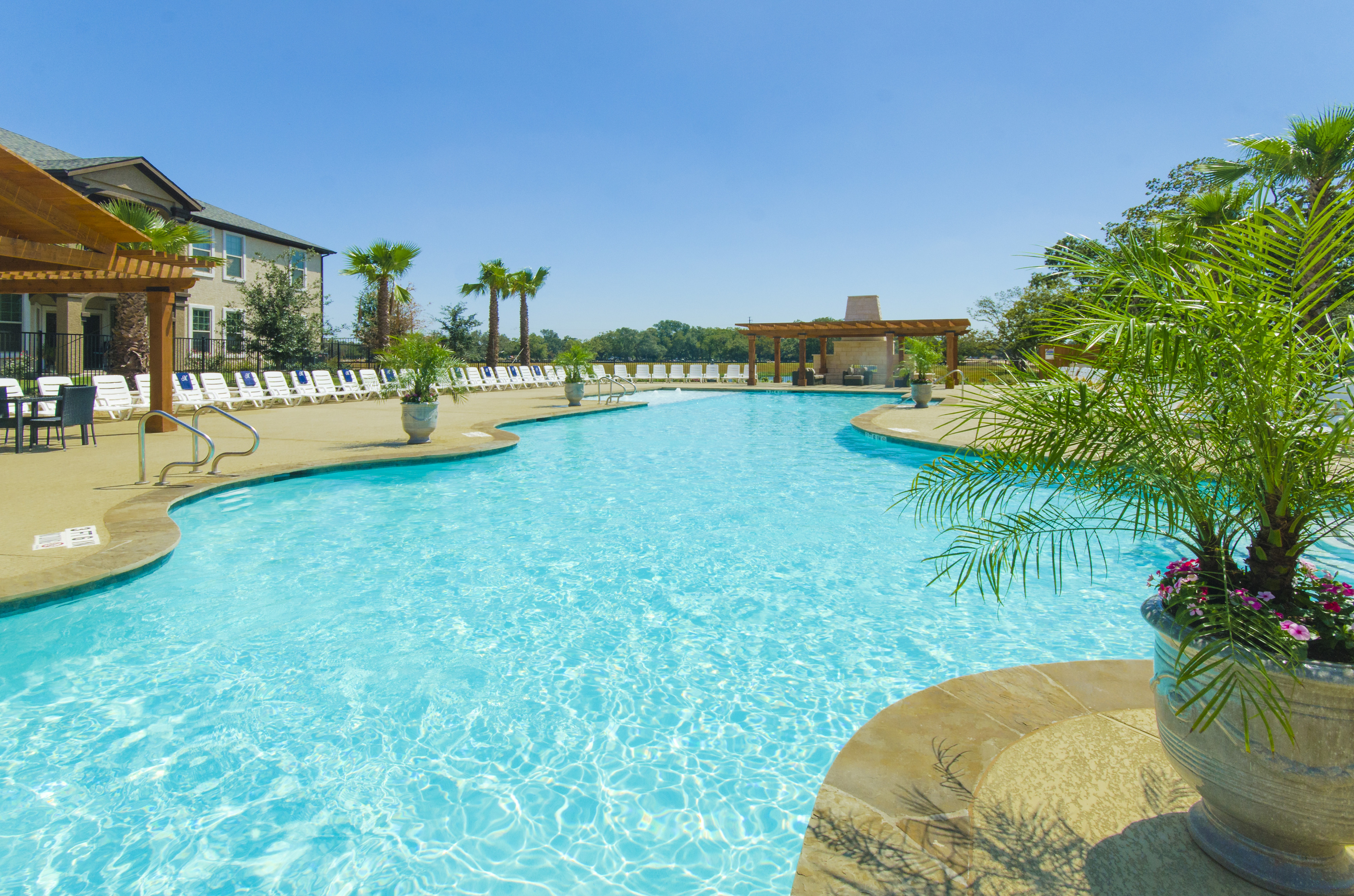 Image of Luxe, Resort-Style Swimming Pool with Tanning Deck for The Mansions Lakeway