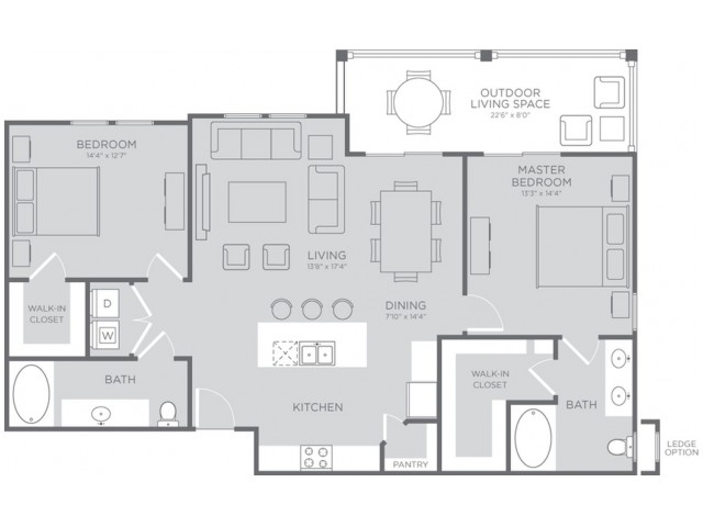 Floor Plan 5 | Seabrook TX Apartments | The Towers of Seabrook