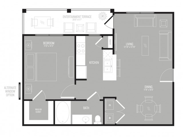 1 Bdrm Floor Plan | 3 Bedroom Apartments In Garland TX | The Mansions at Spring Creek