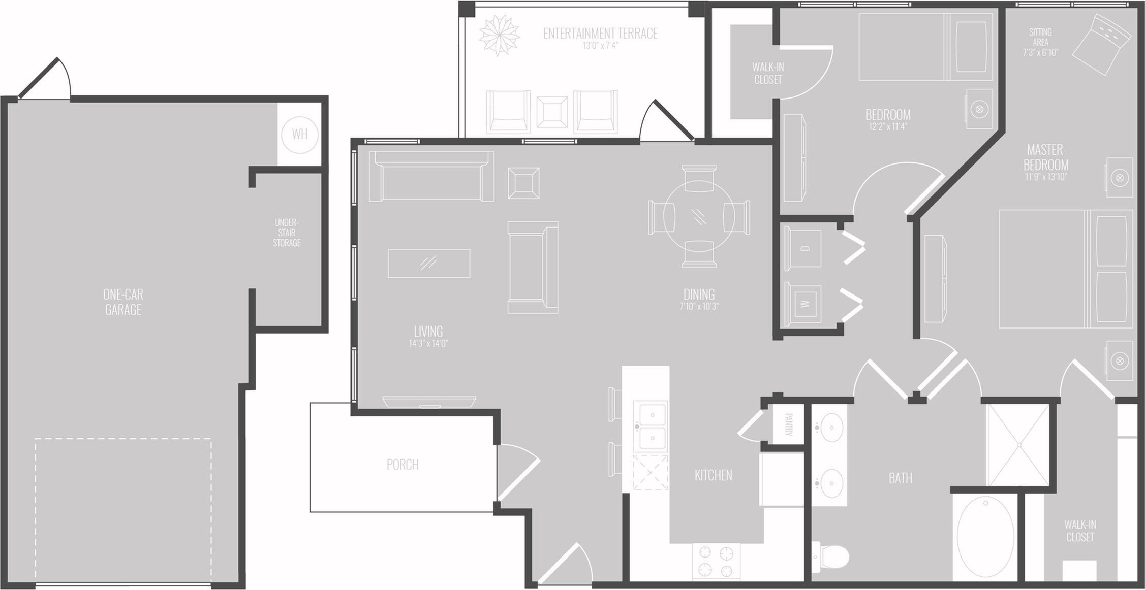 Floor Plan 6 | Luxury Apartments In Georgetown TX | Mansions of Georgetown