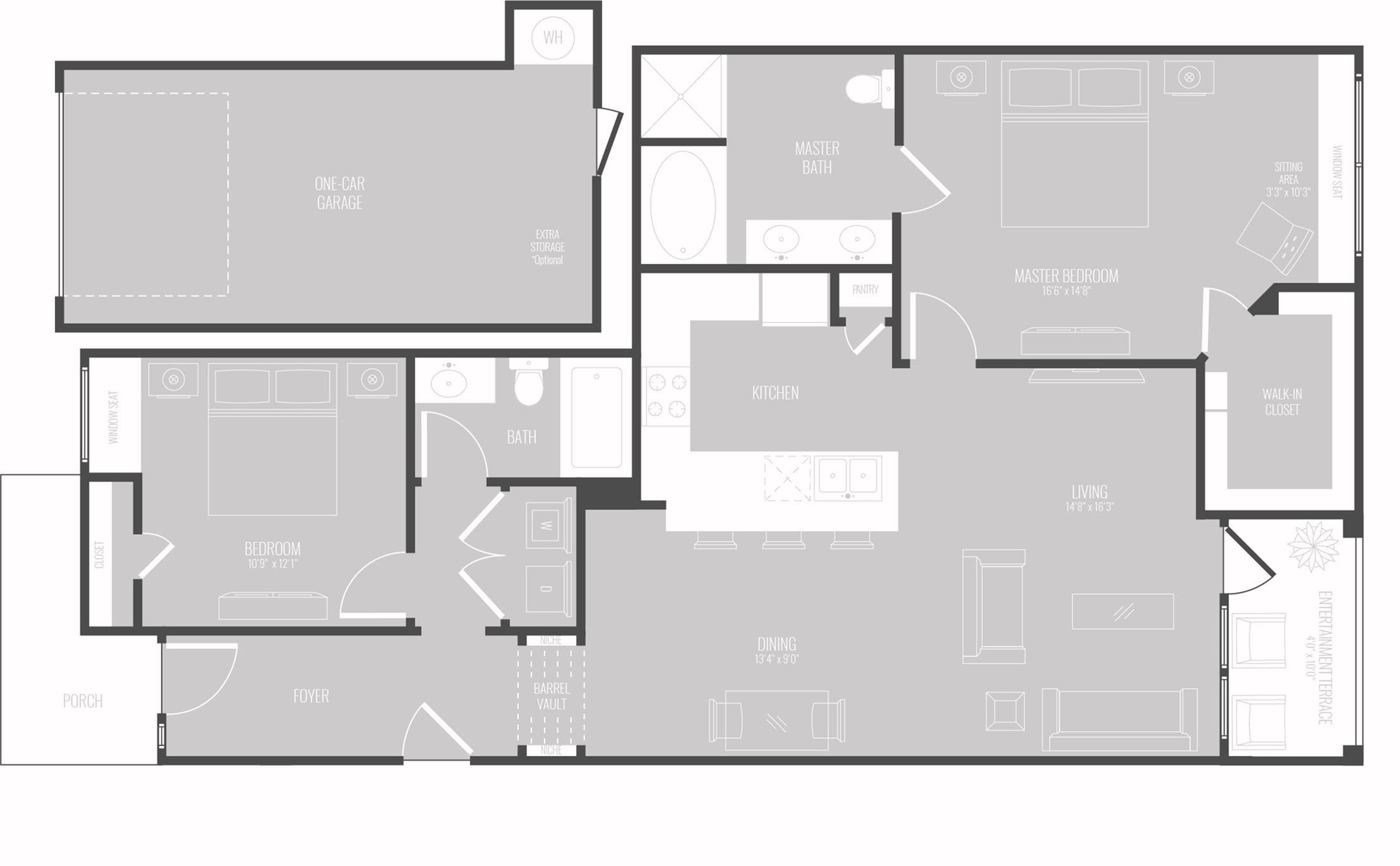 Floor Plan 8 | Apartments In Georgetown TX For Rent | Mansions of Georgetown