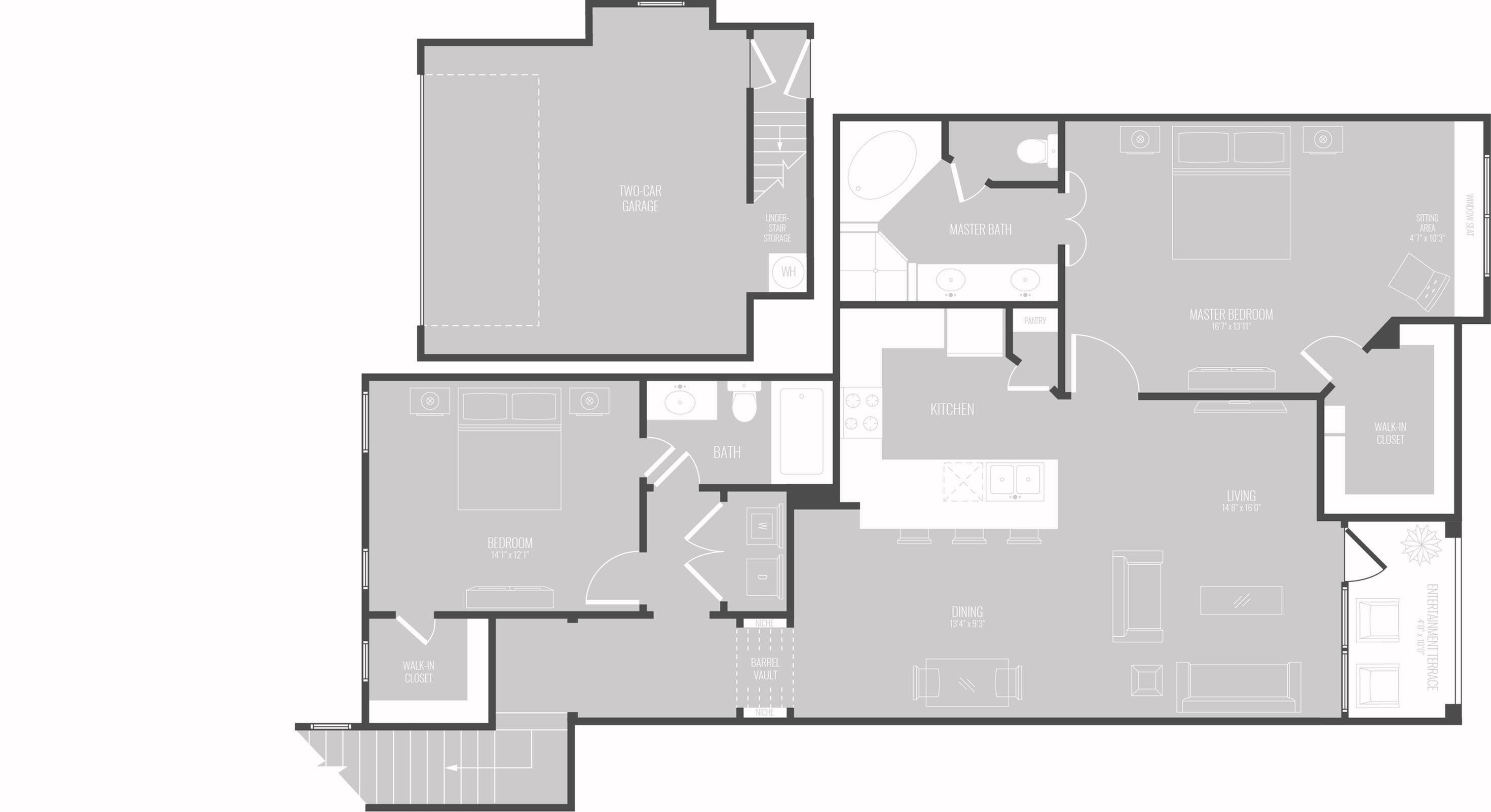 Floor Plan 9 | Apts In Georgetown TX | Mansions of Georgetown
