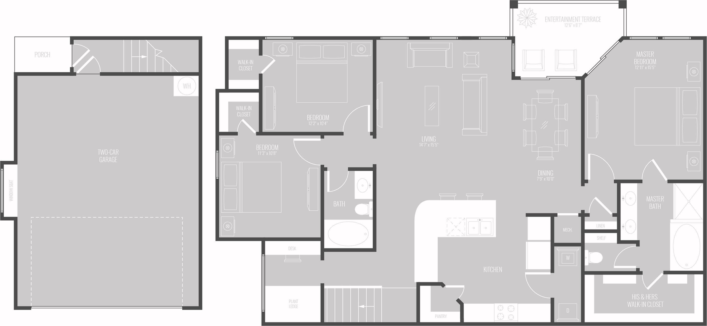 Floor Plan 11 | Luxury Apartments In Georgetown TX | Mansions of Georgetown