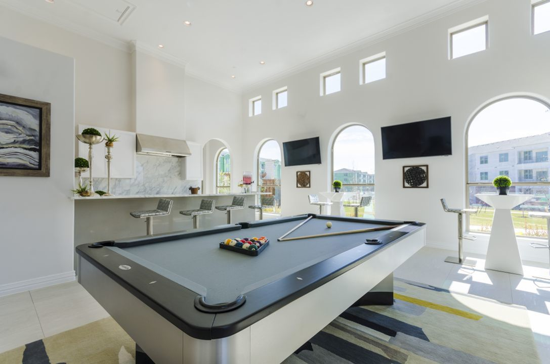 Image of Luxurious Social Clubroom with HDTV Entertainment, Premium Audio & Billiards for The Mansions at Spring Creek