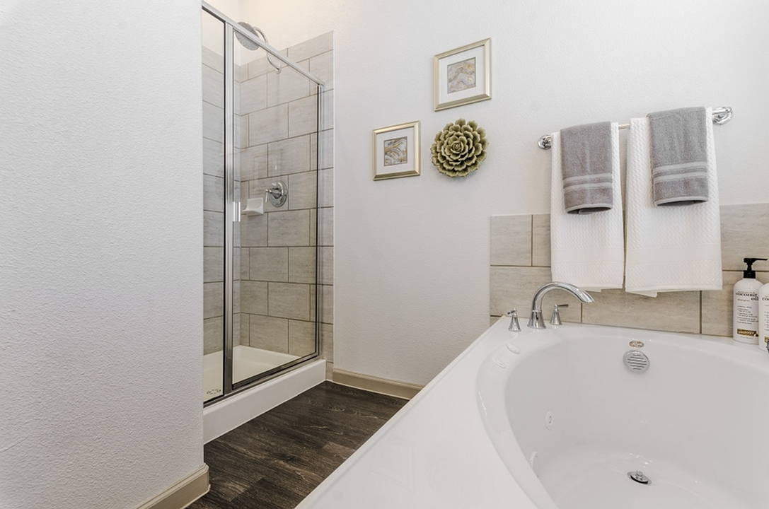 Image of Separate Stand-Up Showers with Rainwater Showerheads & Designer Plumbing Fixtures* for The Mansions of Georgetown