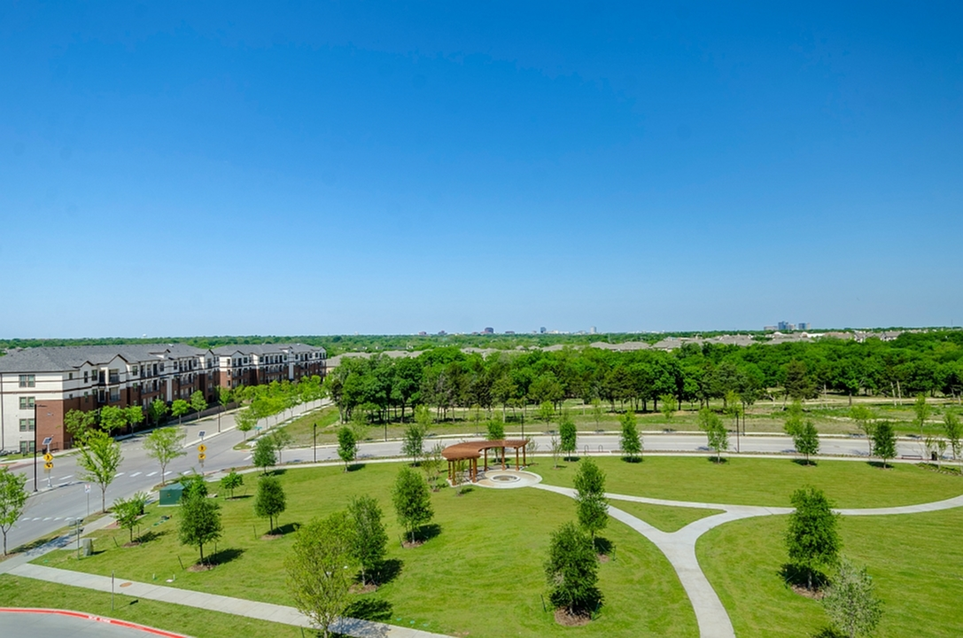 Image of Massive Central Green with Walking Trail & Covered Pavilion for The Towers at Spring Creek