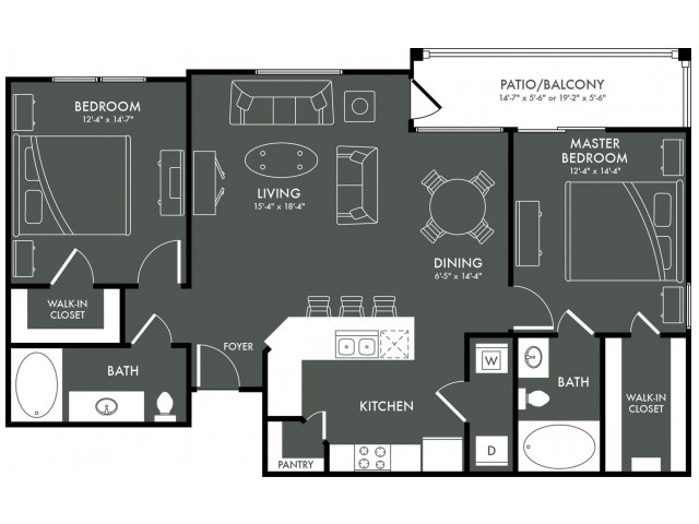 four questions to ask when searching for an apartment floor plan. Black Bedroom Furniture Sets. Home Design Ideas