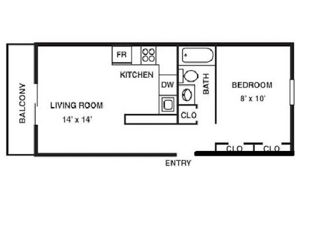 Floor Plan 5 | Coach House Apartments
