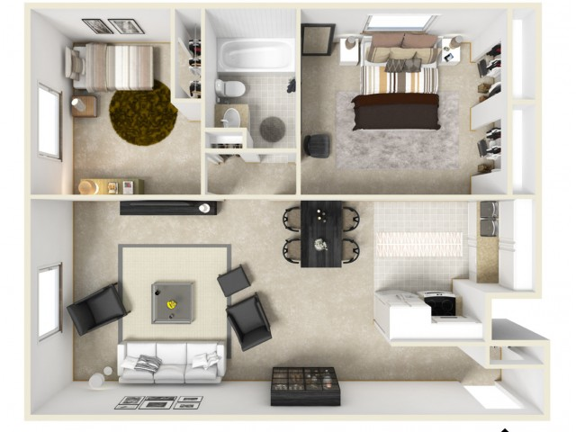 Floor Plan 9 | Coach House Apartments