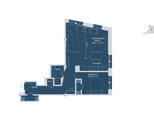 Floor Plan 3 | Apartments For Rent In Boston Ma | 381 Congress