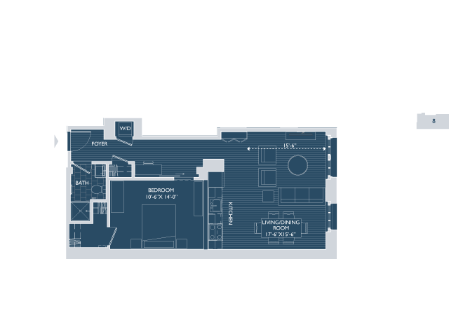 Floor Plan 5 | Apartments Seaport Boston | 381 Congress