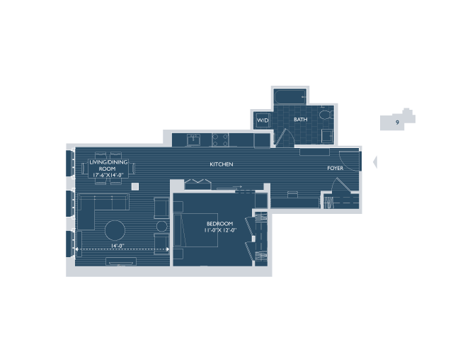 Floor Plan 6 | Boston Seaport Apartments | 381 Congress