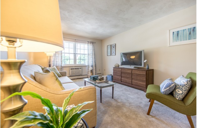 Modern living spaces provide residents with a warm environment to live in, here at Princeton Crossing.