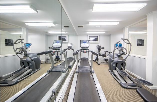 Relieve the stress from work in a modern fitness center here at Princeton Crossing.