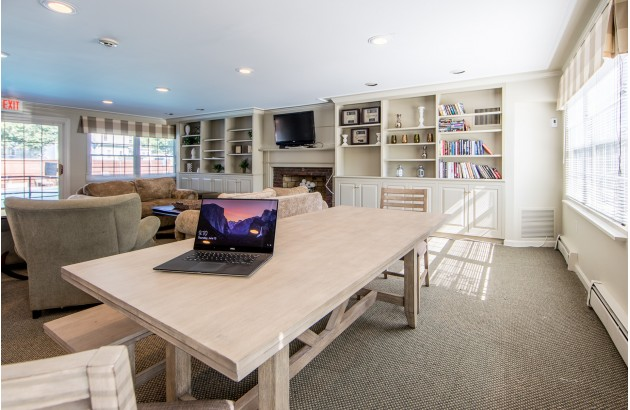 Connect with other residents in a beautiful and welcoming common area here at Princeton Crossing.