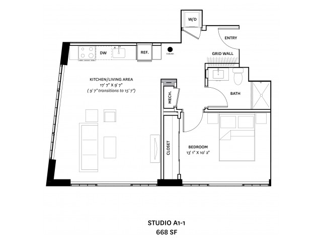 Floor Plan 12 | Charlestown Apartments Boston | The Graphic Lofts