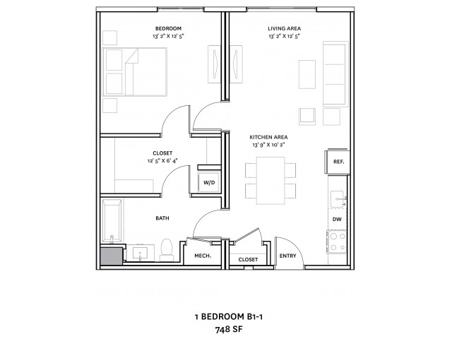 Floor Plan 13 | Charlestown Boston Apartments | The Graphic Lofts