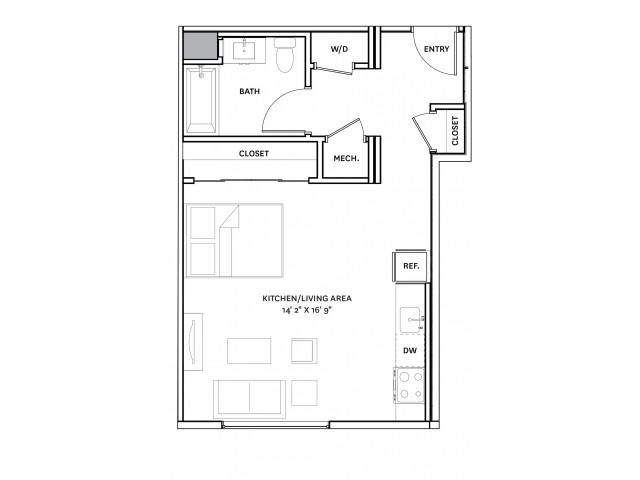 Floor Plan 6 | Apartment Complexes In Charlestown Ma | The Graphic Lofts