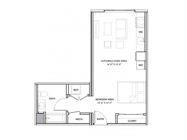 Floor Plan 9 | Charlestown Ma Apartment Complexes | The Graphic Lofts