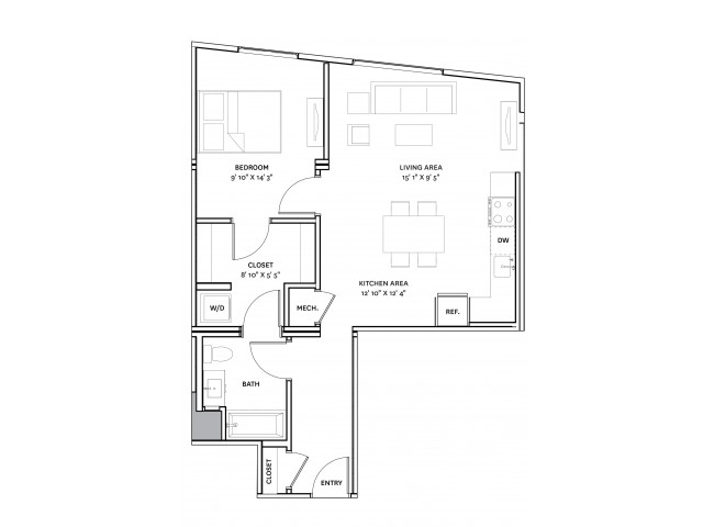 Floor Plan 15 | Charlestown Ma Apartments | The Graphic Lofts
