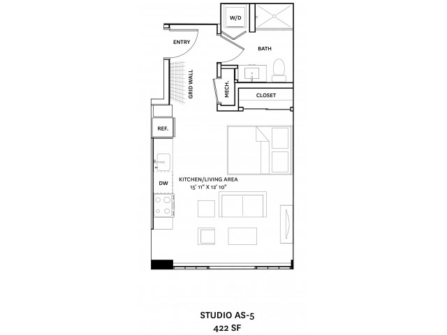 Floor Plan 2 I Apartment Complexes in Charlestown MA I The Graphic Lofts