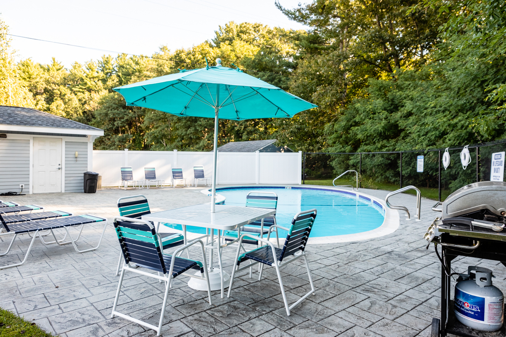 Pool & Grilling Area | Princeton Dover Apartments