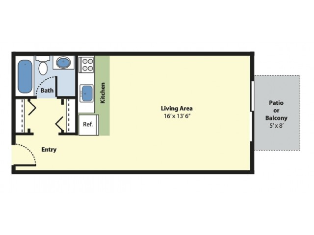 Floor Plan 1 | Apartments For Rent Marlborough MA | Princeton Green