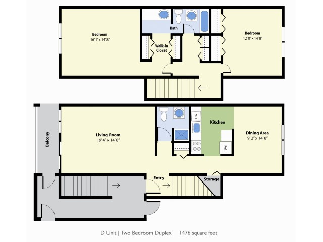 2 Bdrm Floor Plan | Falmouth Maine Apartments For Rent | Foreside Estates