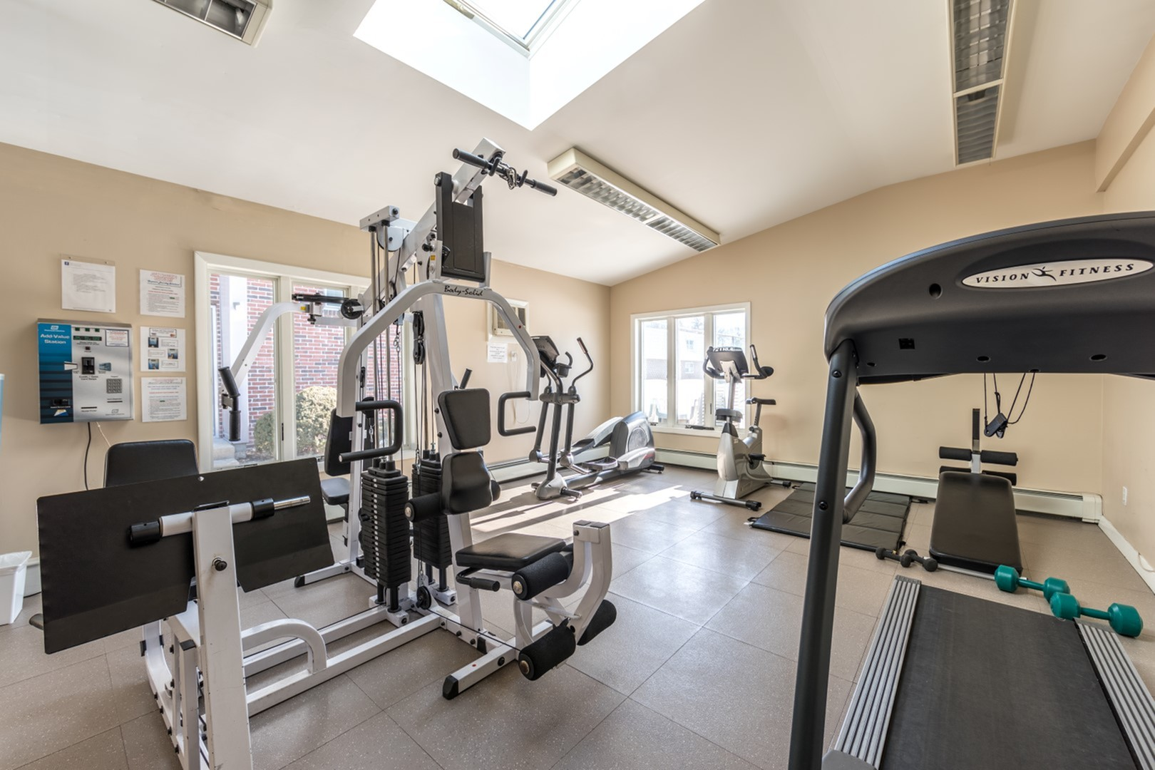 Convenient fitness center available at our apartments for rent in Portland ME