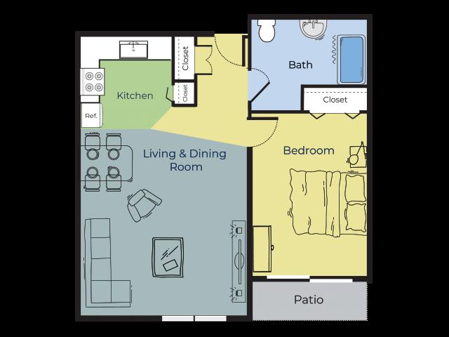 Elm | One Bedroom