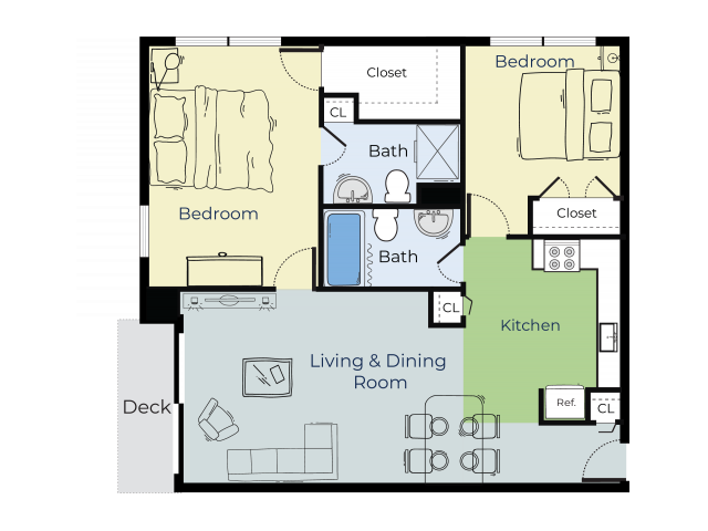 Aspen | Two Bedroom