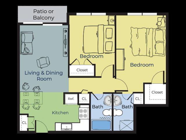 Birch | Two Bedroom