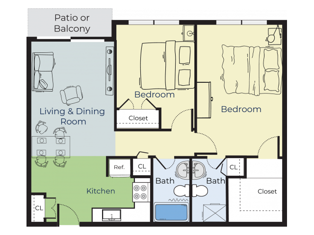 Spruce | Two Bedroom