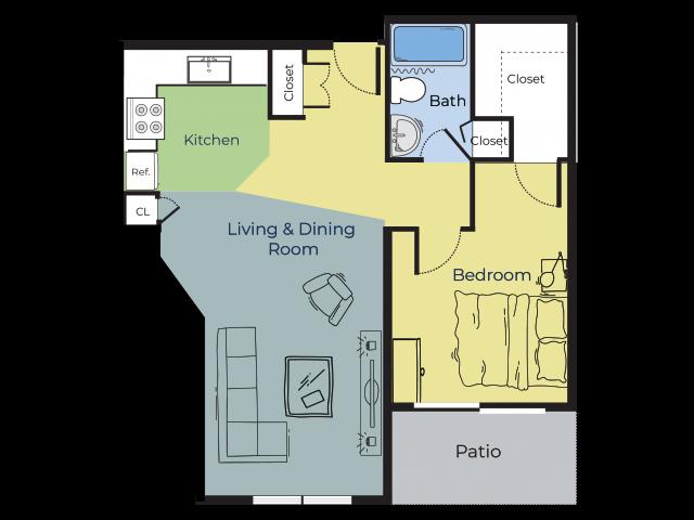 Oak | One Bedroom