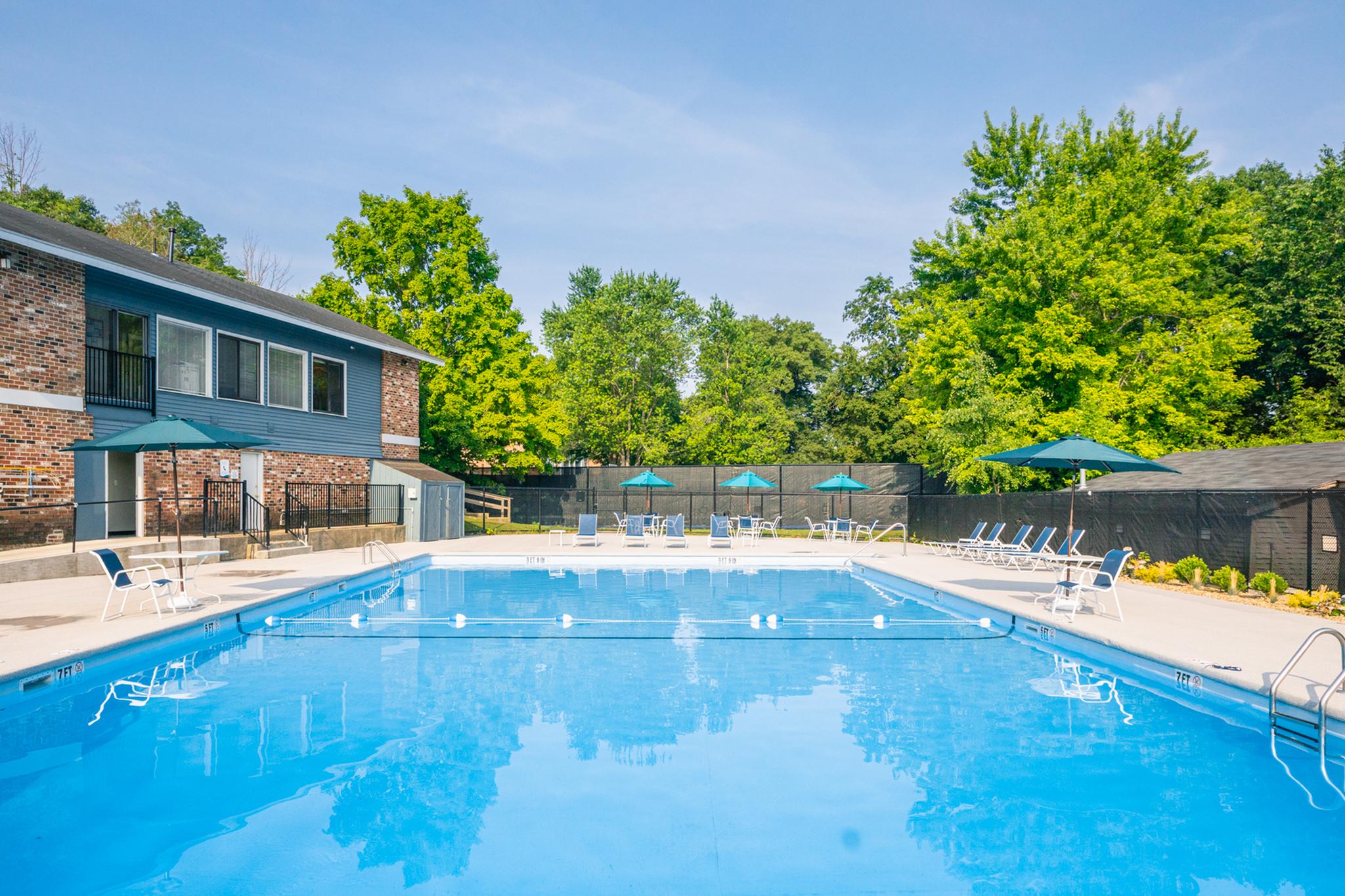 Sparkling Pool | Apartments For Rent Haverhill Ma | Princeton Bradford Apartments