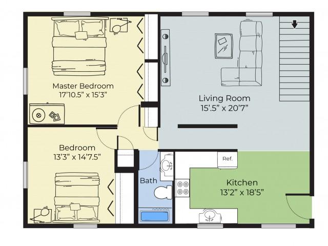 top floor duplex image