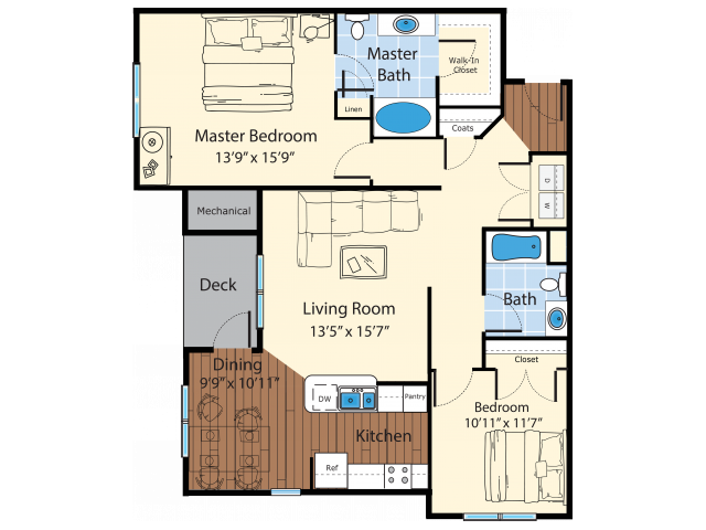 Floor Plan 8 | Westford MA Apartments For Rent | Princeton Westford