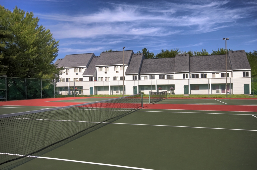 Convenient lighted tennis courts at our apartments in Falmouth ME