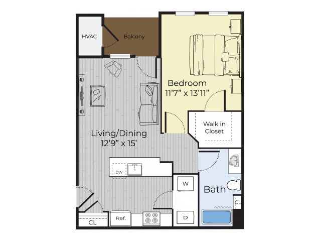 One Bedroom Annex floor plan
