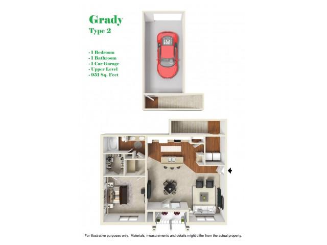 Kelly Reserve Apartments Overland Park Grady 2 Floor Plan