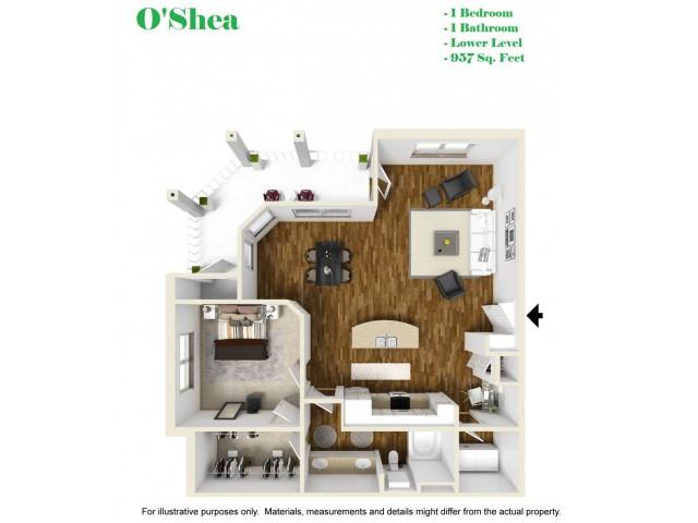 Kelly Reserve Apartments Overland Park Kansas O\'Shea Floor Plan