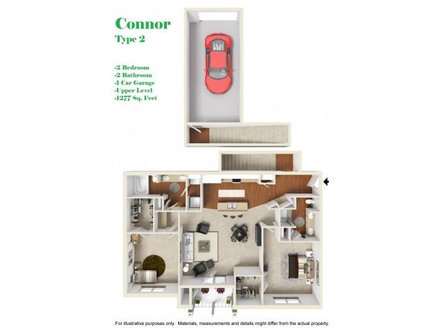 Kelly Reserve Apartments Overland Park Kansas Connor 2 Floor Plan