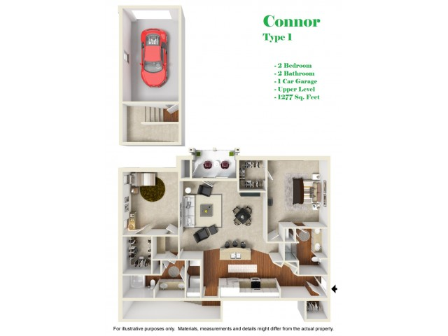 Kelly Reserve Apartments Overland Park Kansas Connor 1 Floor Plan
