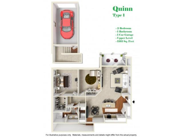 Kelly Reserve Apartments Overland Park Kansas Quinn1 Floor Plan