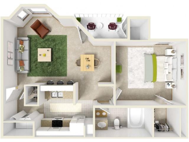 Attractive 1 Bedroom Apt In Columbia Mo Beauteous Single Bedroom Apartments