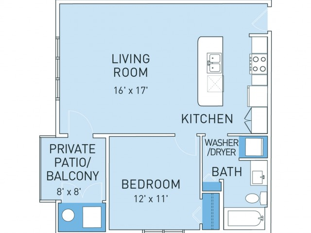 Floor Plan 2 | Ridge45 Apartments