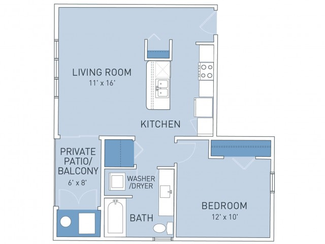 Floor Plan 5 | Ridge45 Apartments
