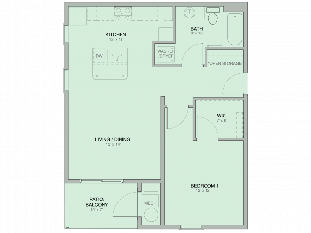 Alpine (Barrier Free)   Pines45 Apartments