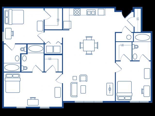 3 BEDROOM, 3 BATH XL