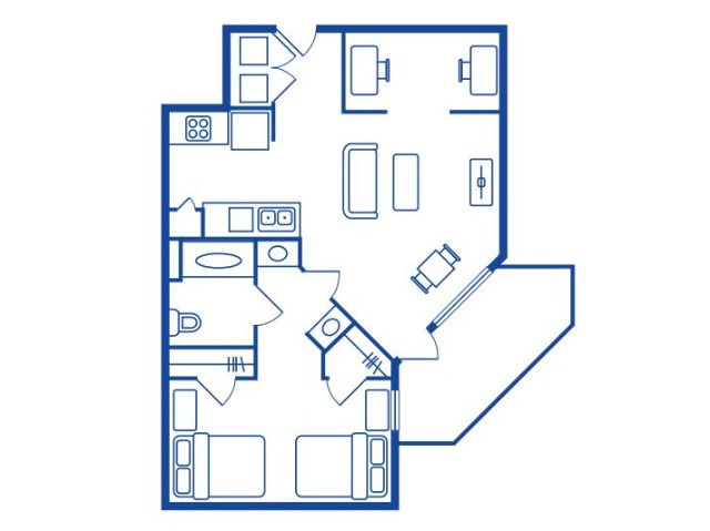 1 Bedroom, 1 Bath (DBL OCC)